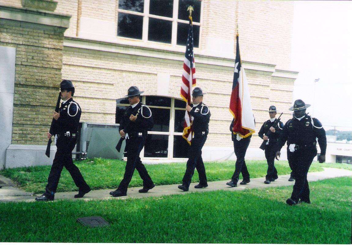 Honor Guard with Flags