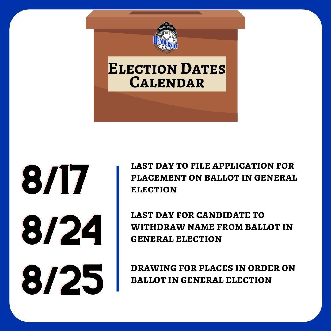 Election Dates for Application
