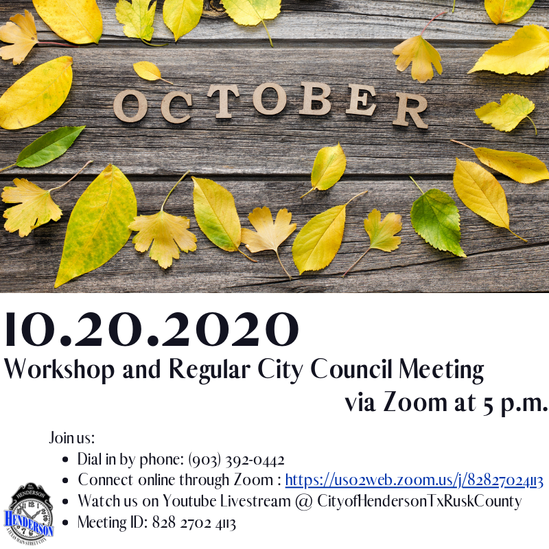 October Workshop and Council Meeting 9-15