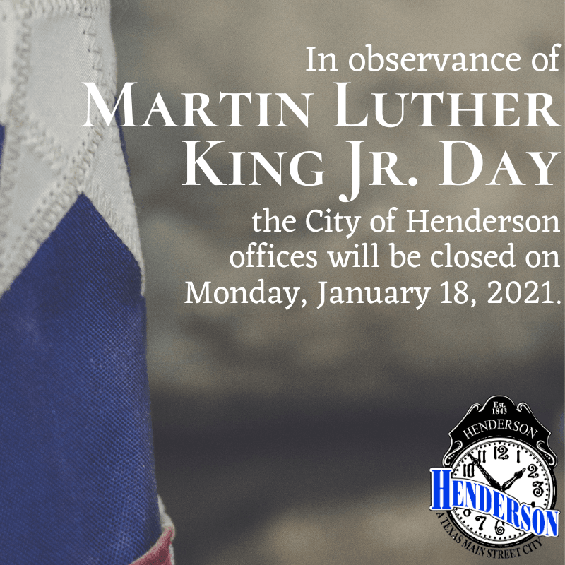 City Offices Closure_ Martin Luther King Jr Day
