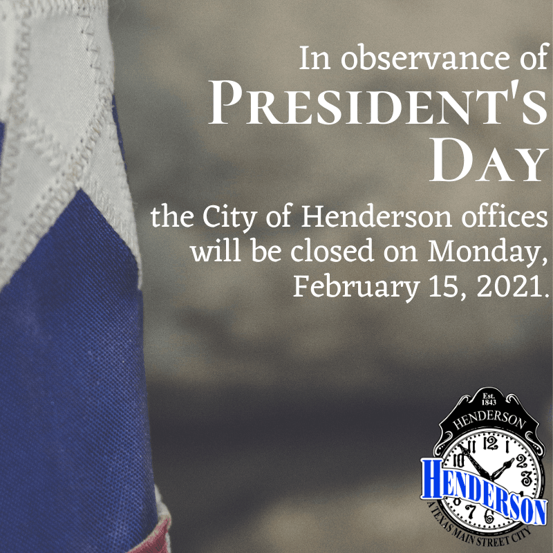 City Offices Closure_ Presidents Day 2021