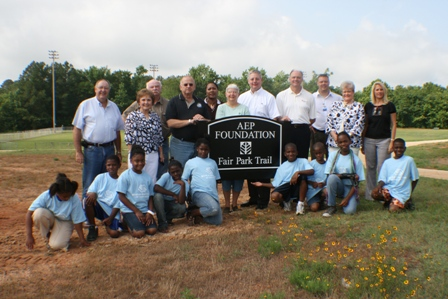 Group photo with AEP Foundation sign